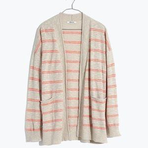 NWT Madewell Cardigan Sweater Textured Stripe